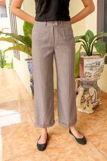 Gray Long Trousers