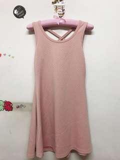 🚚 粉色背部小性感搖洋裝