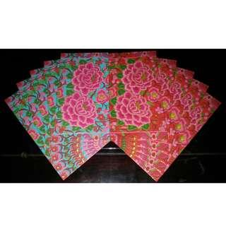 10 pcs UBS 2018 Gorgeous Floral Red Packet / Ang Bao Pao Pow Pau / Sampul Duit