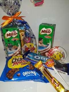 Snacks only goodie bag