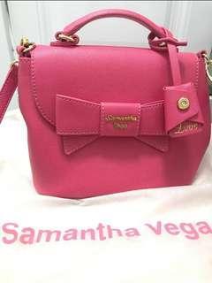 Brand new Samantha Vega pink leather cross bag handbag 桃紅色側咩手袋