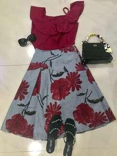 Top and Skirt (mix and match)