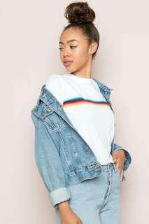 Brandy Melville inspired Rainbow shirt