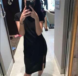 🚚 開叉短袖洋裝