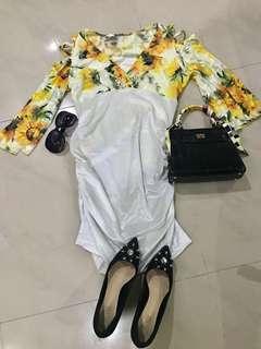 Sunflower Design Dress