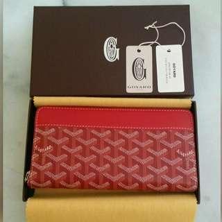 BNIB GOYARD Matignon Long Zip Wallet