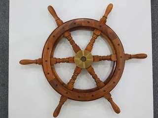 Wooden Nautical ship steering wheel