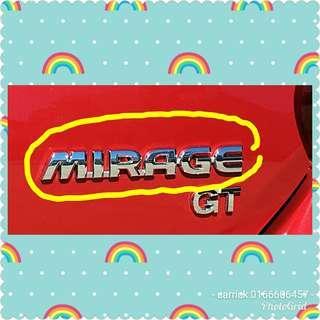Mirage emblem(mitsubishi gt)