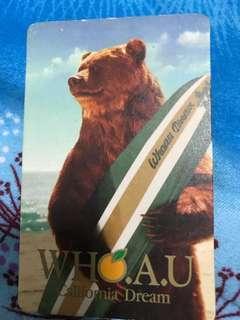 Who.A.U. Card 卡 只供收藏
