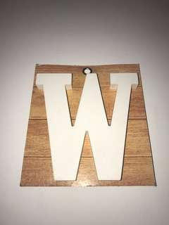 Letter 'W' Display Decoration