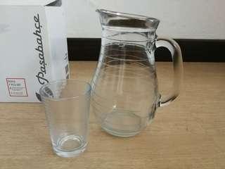 Set jug + gelas kaca