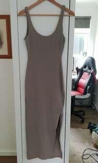 Kookai khaki split dress