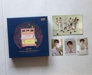 [SOLD] Astro All Member Signed Dream part 1 night version with MJ Photocard set