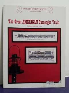 Cross Stitch Chart Book☆The Great American Passenger Train