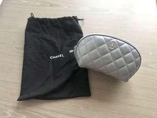 全新 Chanel 2.55 quilted leather cosmetic clutch bag 全皮化粧袋
