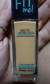 Original Maybelline Fit Me Liquid Foundation - 332 Golden Caramel