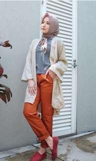 E bizza Pants warna Brick