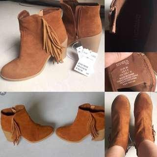 H&M Brown Suede Boots Size 6