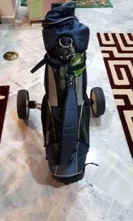 Callaway Golf Bag and Perry Gear two wheel Golf cart #bundlesforyou