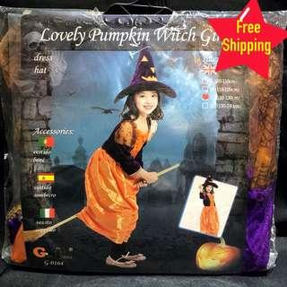 Kids Pumpkin Witch Costume