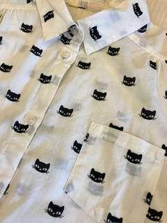 全新❗️可愛貓貓🐱長身恤衫 Size :164 (13-14y)