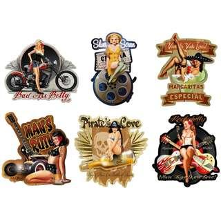 [Pre-Order] Pin-Up Girl Metal Signs - Made In USA (Read Description)