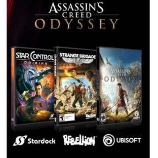 🚚 Assassin's Creed Odyssey+Star Control:Origins+Strange Brigade/PC GAMES steam