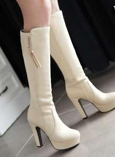 Women leather knee high boots 7-9 women size