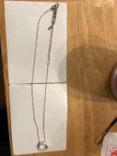 AGATHA 925 (頸鍊、閃石圓型鍊咀、18寸長)