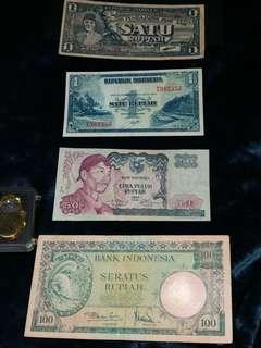 Indomesia old banknotes