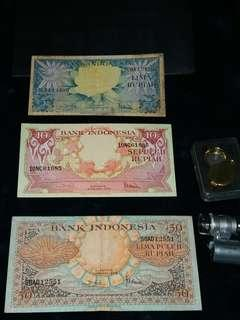 Imdonesia old banknotes