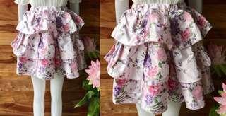 Floral Balloon Skirt
