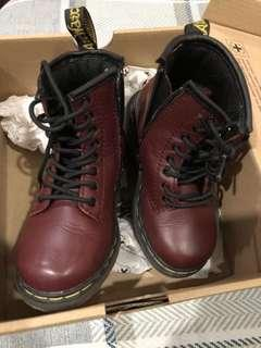Auth. Dr. Martens Brooklee Cherry Red (toddler)
