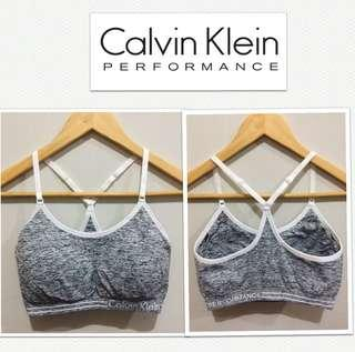 Calvin Klein Performance Wick Heather Wht Sports Bra