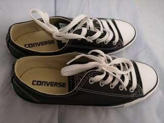 Converse Black Leather Shoes (Ladies)
