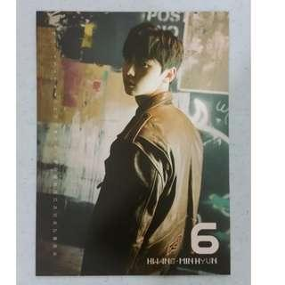 Wanna One / NU'EST Hwang Min Hyun (MinHyun) - Nothing Without You Wanna ver. Calendar Card (slight defected)