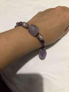 """Gemstone Bracelet Violet Size 7.5"""""""