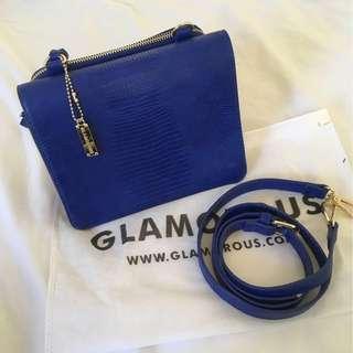 Glamorous electric blue bag