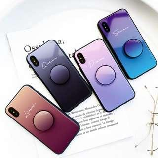 🚚 Customise Name Gradient Colour Glass Phone Case