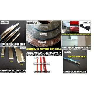 CHROME MOULDING STRIP by Geckko Specialty Tapes
