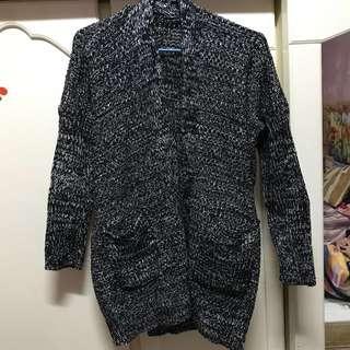 厚款混色針織外套