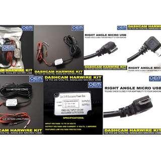 OEM Engineering Dashcam Hardwire Kit Micro USB