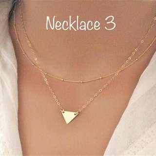 Necklace h&m forever21 inspired stainless geometric gold minimalist