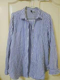 h&m藍白條紋襯衫