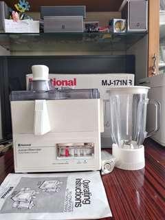 National  2 合1 榨汁攪拌机 (1公升)  MJ-171NR 日本制造   National 2 in 1 Juicer and Blender  (1 Litre) MJ-171NR Made in Japan