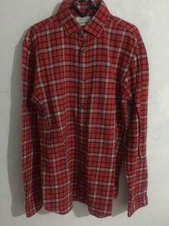 Zara men checkered shirt