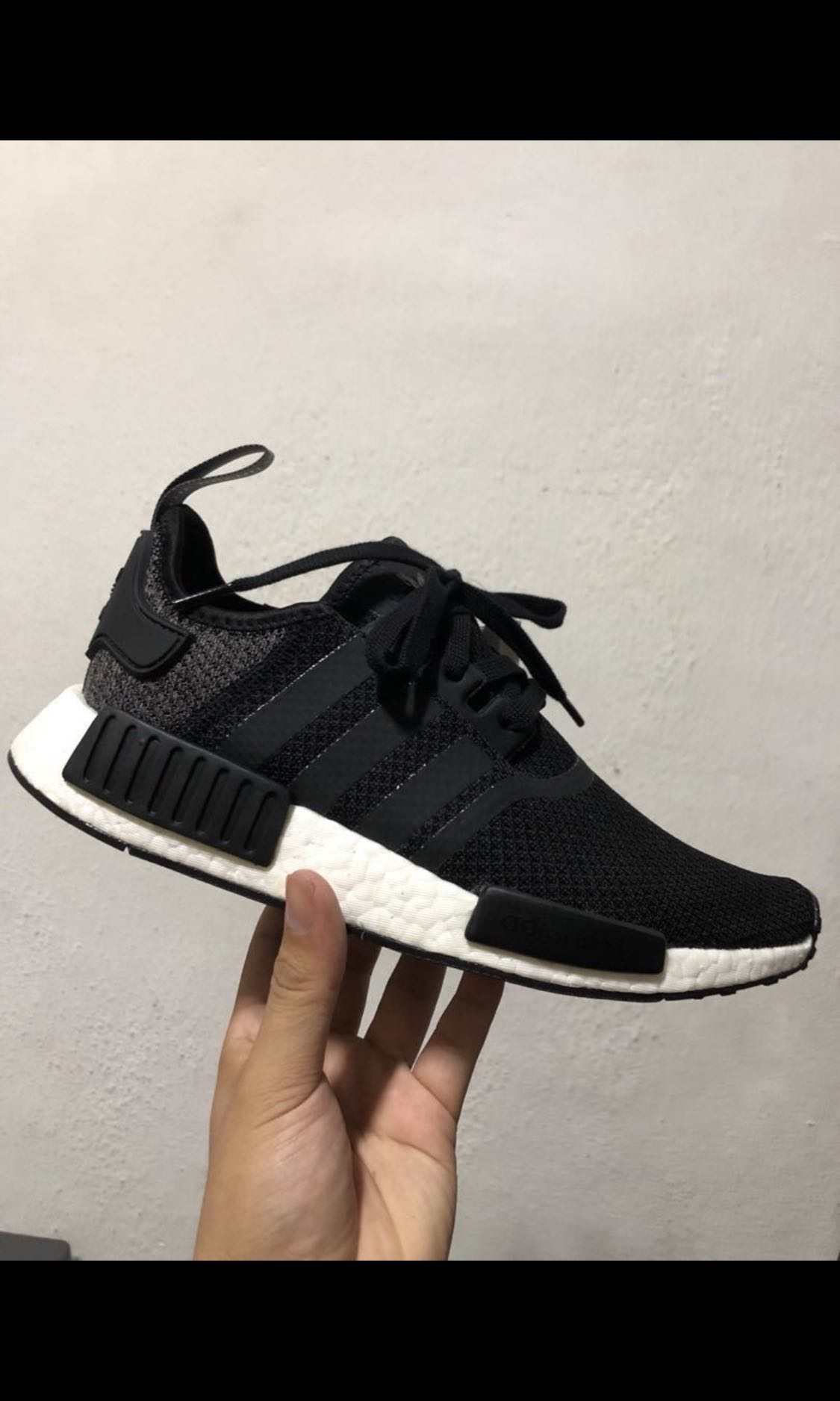 best website 17d26 297a2 Adidas NMD R1 Black Grey Mesh, Mens Fashion, Footwear, Sneakers on  Carousell