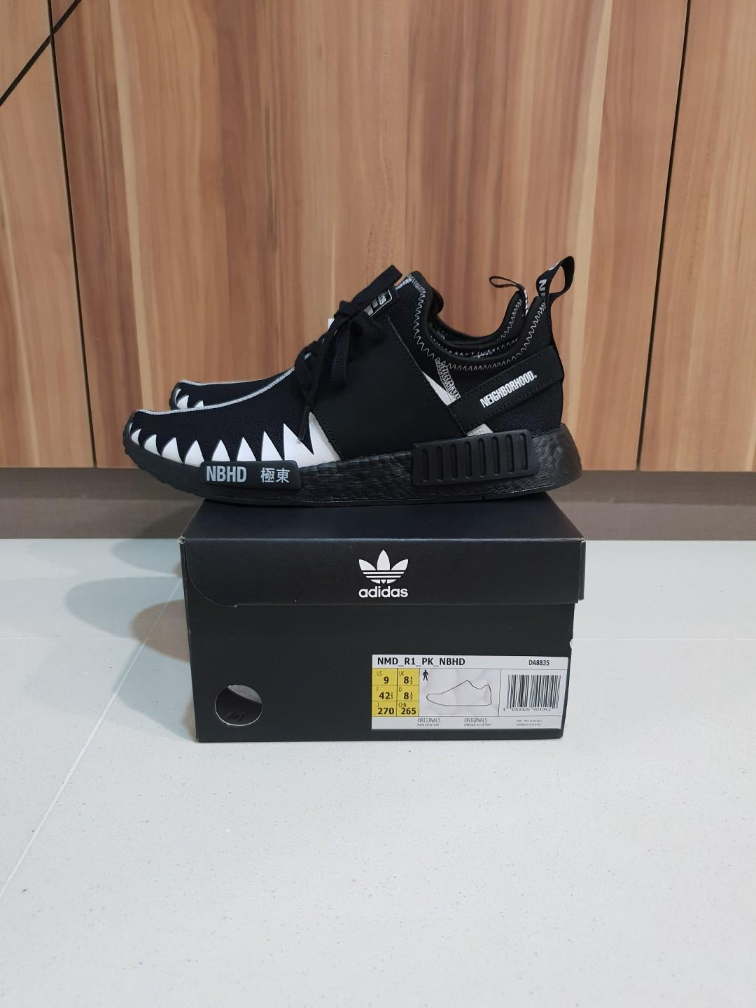 new product 07381 bad15 Adidas x Neighborhood NMD R1 US9, Everything Else on Carousell