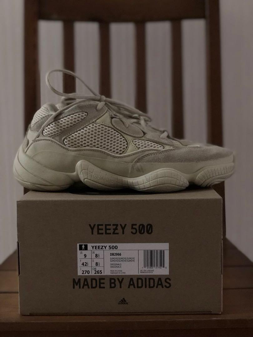 info for d0aae 1a9a7 Adidas Yeezy 500 Super Moon Yellow Us9, Men's Fashion ...
