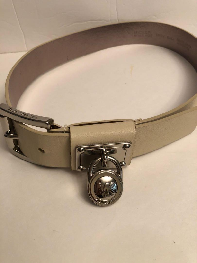 Authentic Micheal Kors  leather belt with medallion